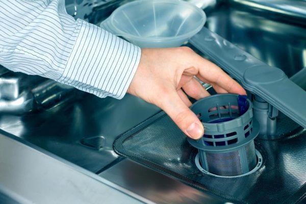 فیلتر ماشین ظرفشویی مسدود است