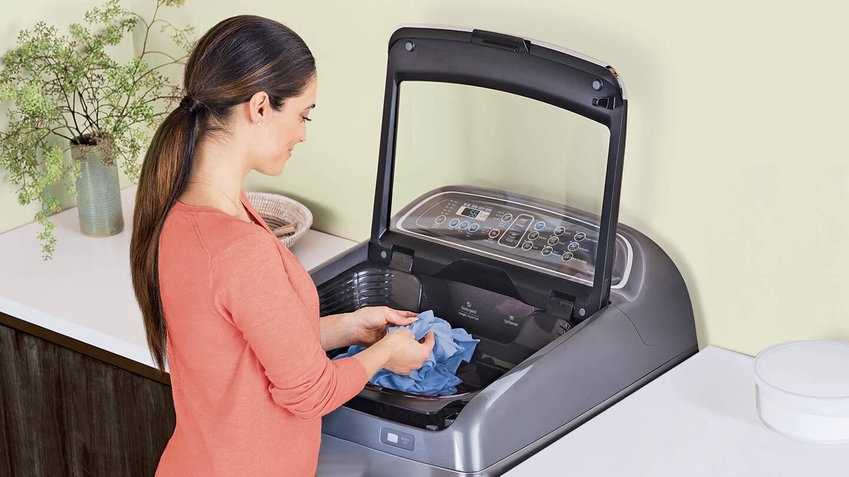 تفاوت انواع ماشین لباسشویی,ماشین لباسشویی درب از بالا