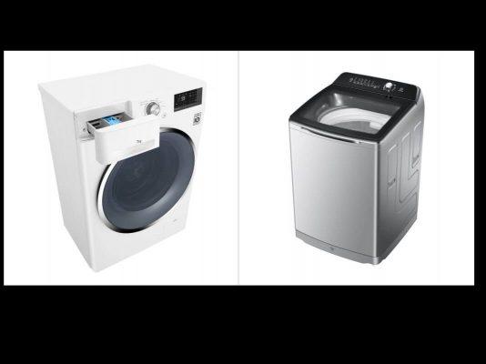 تفاوت انواع ماشین لباسشویی